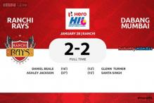 Gritty Ranchi Rays hold Dabang Mumbai 2-2 in HIL
