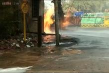 Delhi: Fire breaks out in IGL pipe line, traffic affected on Ring road