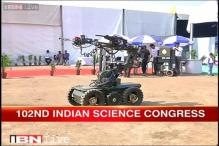 Indian Science Congress showcases robot with multiple cameras to defuse bombs