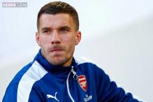 Lukas Podolski meets Inter Milan's boss and says goodbye to Arsenal