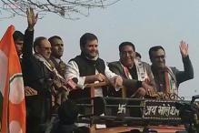 Rahul Gandhi enters Delhi political battle, holds roadshow