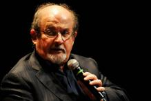 Salman Rushdie, threatened over book, defends free speech