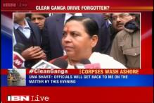 Directed officials to act on issue of human bodies found in Ganga: Uma Bharti