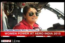Women brigade catches attention at Aero India 2015 in Bengaluru