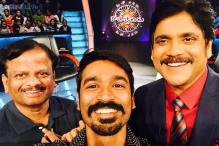 Photo Of The Day: Dhanush takes a selfie with Nagarjuna on the sets of Telugu 'Kaun Banega Crorepati'