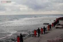 Video purports to show IS militants beheading Egyptian hostages