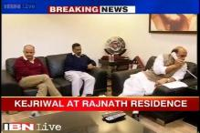 Aam Aadmi Party chief Arvind Kejriwal meets Rajnath, demands full-fledged statehood for Delhi