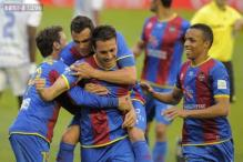 Two late goals give Levante 2-1 win against Granada in La Liga