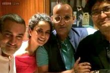 Photo Of The Day: Kangana Ranaut, Aamir Khan, Prasoon Joshi party together