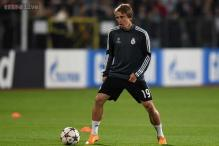 Real Madrid's Luka Modric back in training after three-month layoff