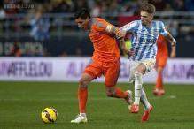 Samuel Castillejo scores as Malaga beat Valencia 1-0 in La Liga