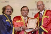 RIL Chairman Mukesh Ambani conferred Doctor of Science by ICT