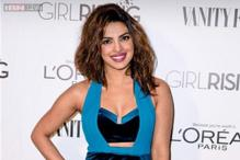Look of the day: Priyanka Chopra stands out at the Vanity Fair and Loreal's Pre Oscar Party in a blue Three Floor dress