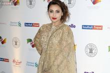 Look of the day: Rani Mukerji dazzles in Sabyasachi as she rubs shoulders with Prince Charles and Kailash Satyarthi