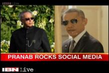Watch: Pranab Mukherjee gives serious competition to Obama on style quotient
