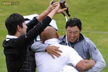 James Hahn wins playoff at Riviera for first title
