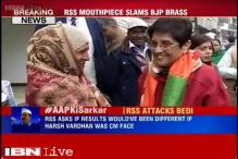 RSS attacks Kiran Bedi for BJP's dismal show in Delhi polls, questions her CM candidature