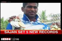21-year-old Sajan Prakash sets new record at 5 swimming events, bags 5 medals at National Games