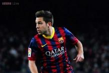 Barcelona defender Jordi Alba out for 10 days with injury