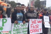 World Cup: Bangladeshi fans continue their protest over Rohit Sharma no-ball