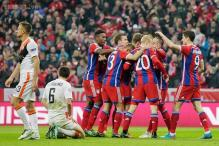Bayern rout Shakhtar 7-0 to advance to Champions League quarter-finals