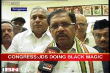 Karnataka: Congress accuses JDS of practicing black magic, finds lemons, bangles in party office