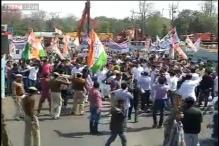 Protest over land bill turns violent, Congress workers clash with police