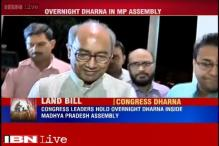 MP: Congress leaders hold overnight dharna inside state Assembly against Land Bill