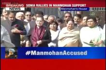 Congress out in full force in support of Manmohan Singh