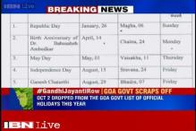 BJP-led Goa government drops Gandhi Jayanti from list of official holidays