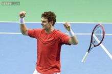 Davis Cup: Henri Laaksonen gives Switzerland 1-0 lead over Belgium