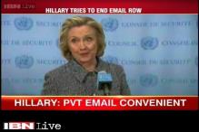 Used personal email account for 'convenience', says Hillary Clinton