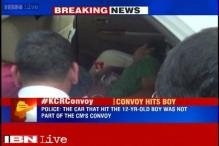 Vehicle of Telangana CM's convoy hit a 12-year-old boy, allege locals