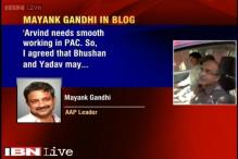 AAP's Mayank Gandhi breaks silence, says sacking of Yadav, Bhushan is against sentiments of party members