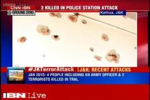 Kathua encounter leaves bullet marks on walls of Rajbagh police station