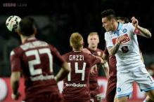 Serie A: Napoli lose 1-0 at Torino as Lazio close in on third spot