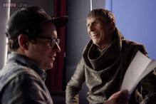 Behind the scene photos from Leonard Nimoy's final appearance as Spock in 'Star Trek Into Darkness'