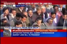 United Opposition marches against Land Acquisition Amendment Bill to Rashtrapati Bhavan