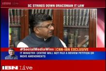 Quashing 66A of IT Act a message to politicians to tolerate critisicm: Ravi Shankar Prasad