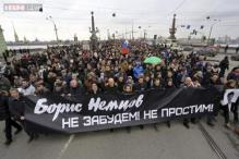 Russians march in memory of murdered Putin critic Boris Nemtsov