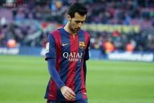 Barcelona's  Sergio Busquets out of Rayo Vallecano clash