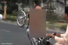 Nude Pakistan motorcyclist gets dressing down as video goes viral