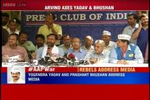 Live: Bouncers were present inside AAP's National Council meet, alleges Yogendra Yadav