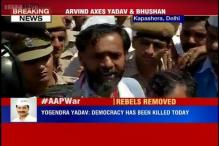Amidst high drama, AAP National Council sacks rebels Yogendra Yadav, Prashant Bhushan