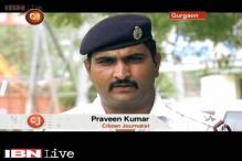 Gurgaon Traffic Police ASI Praveen Kumar highlights the dangers of his work