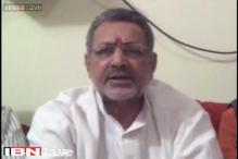 Live: Giriraj Singh breaks down after PM Modi pulled him up for remarks on Sonia's skin colour