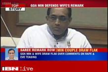 Goa minister backs wife's comment, says she was never eve-teased as she wears sarees