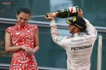 Lewis Hamilton defends his Champagne celebration after criticism