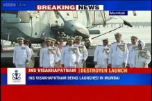 Watch: The launch of INS Visakhapatnam in Mumbai