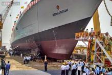 Navy's new stealth destroyer INS Visakhapatnam launched in Mumbai
